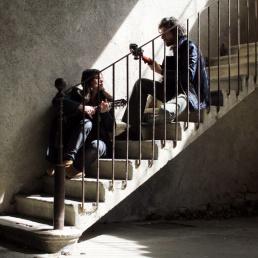 Karl Sandra escalier bd